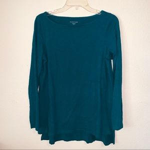 🦄 Eileen Fisher Long Sleeve Shirt Slit Sides Teal
